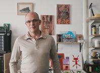 Robert Fitzmaurice in his studio
