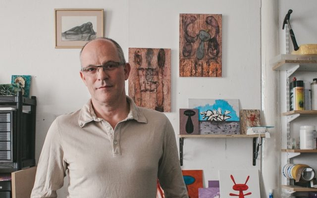 Robert Fitzmaurice in his studio